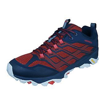 Mens Merrell vandring trenere Moab FST Walking sko - Navy og rød