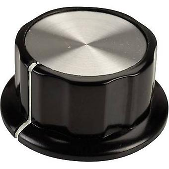SCI RN-99A(6.4mm) Control knob Black, White (Ø x H) 45 mm x 20.3 mm 1 pc(s)