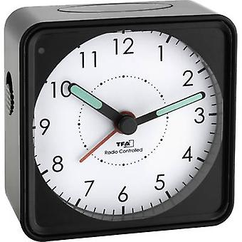 TFA Dostmann 60.1510.01 Radio Alarm clock Black Fluorescent Hands