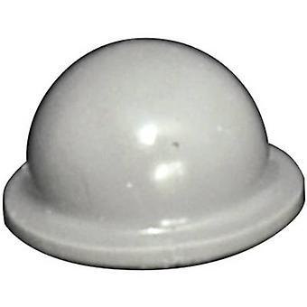 TOOLCRAFT PD2055G noha samolepicí, kruhový šedý (Ø x H) 9,6 mm x 5,4 mm 1 počítač (y)