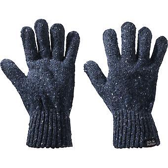 Jack Wolfskin Mens & Womens Merino Wool Warm Chunky Knit Gloves