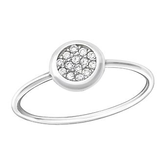 Round - 925 Sterling Silver Jewelled Rings - W36166X