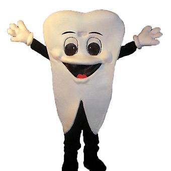 SPOTSOUND white, giant and smiling tooth mascot