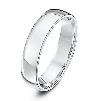 Mariage Star anneaux de lumière Cour forme 5mm mariage bague en or blanc 18 carats
