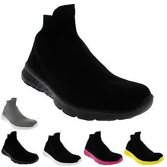 Womens Lightweight Sock Slip On Walking Sport Running Prime Knit Trainer UK 3-10