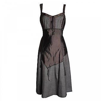 Tuzzi Women's Strap Dress With Contrast Panels