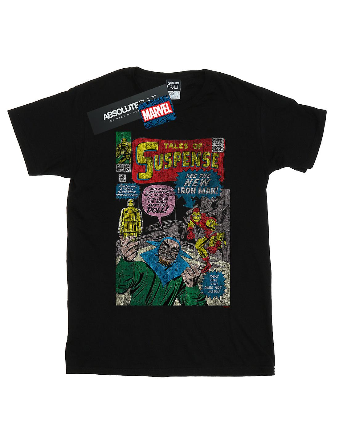 Marvel Girls Iron Man Distressed Suspense Cover T-Shirt