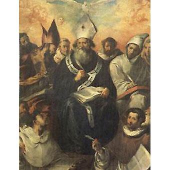 St Basil Dictating His Doctrine, Francisco Herrera the Elder, 50x40cm