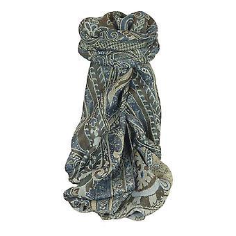 Muffler Scarf 7943 in Fine Pashmina Wool Heritage Range by Pashmina & Silk