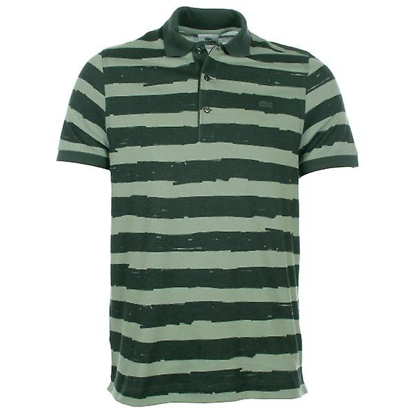 Lacoste Polo Shirt Green Stripe DH2204-00
