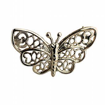 9ct goud 18x36mm vlinder broche