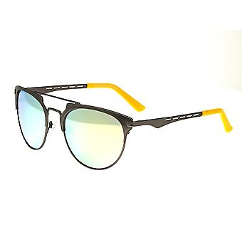 Breed Hercules Titanium Polarized Sunglasses - Gunmetal/Celeste-Yellow