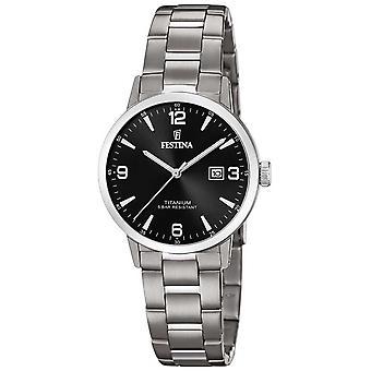 Festina | Womens Titanium | Black Dial | Titanium Bracelet | F20436/3 Watch