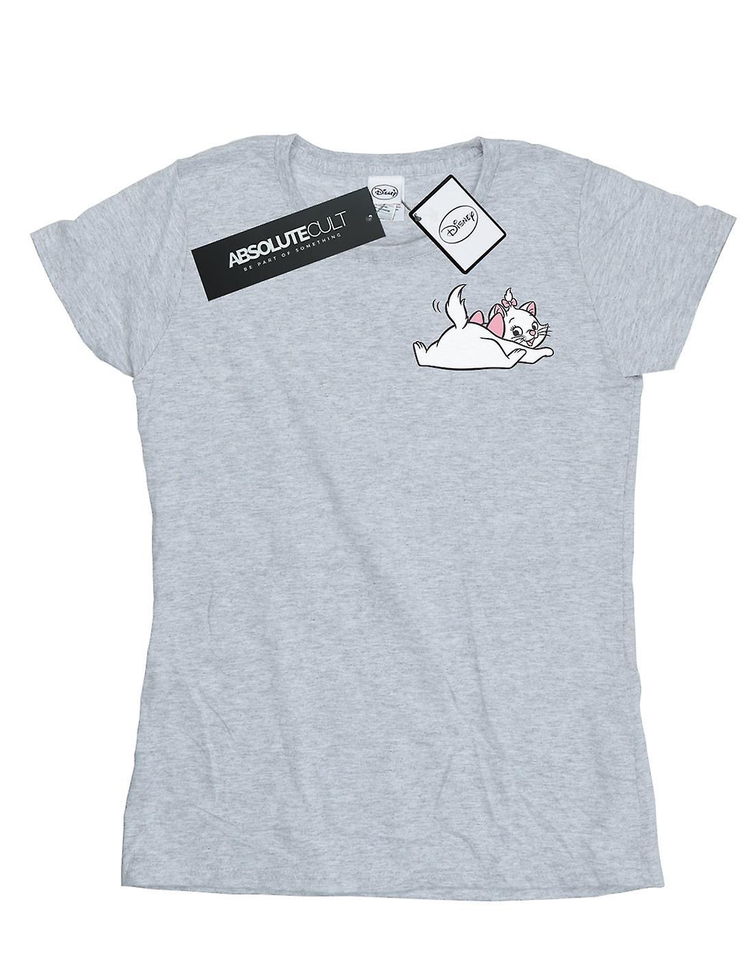 Disney Women's Aristocats Marie Sweet Backside Breast Print T-Shirt