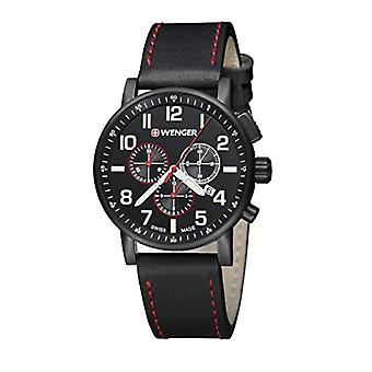 WENGER Quartz Analog leather strap Unisex Adult 01.0343.104 Attitude Chrono