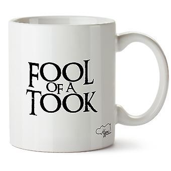 Hippowarehouse Fool Of A Took Printed Mug Cup Ceramic 10oz
