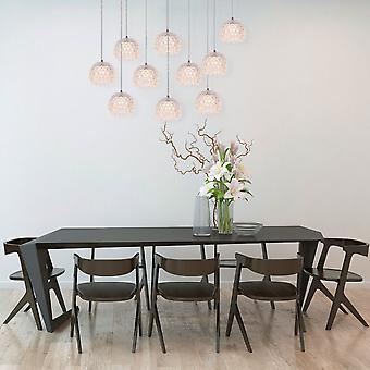 Brillcool Sirius10 Pendant Led Dining table Chandelier  Nickel Rectangular Canopy