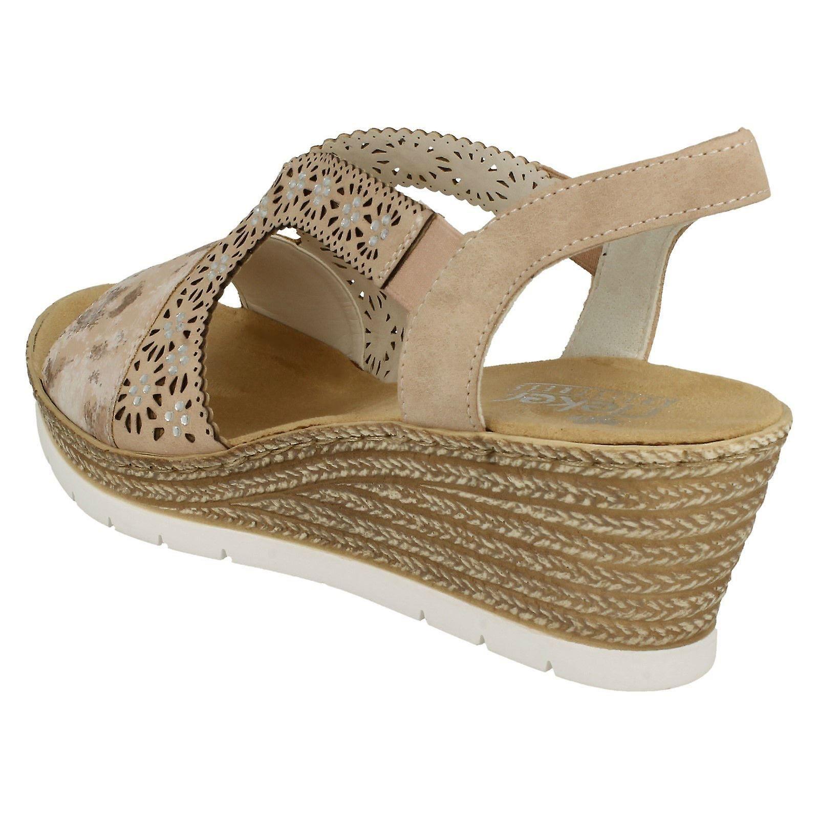 Sandales à talon Wedge Rieker Mesdames 61916