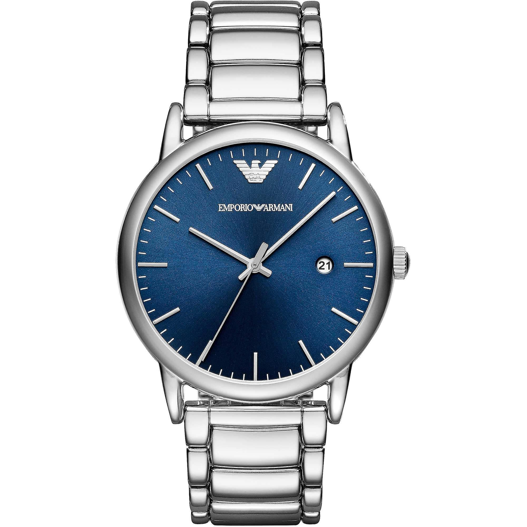 Emporio Armani Ar11089 Men's Silver 43mm Stainless Steel Watch