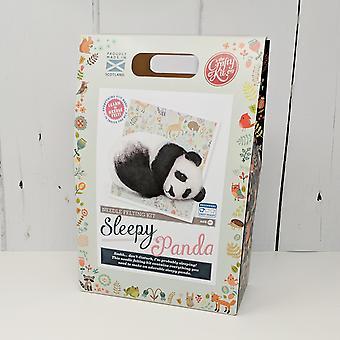 Kit sleepy Panda Needle Felting