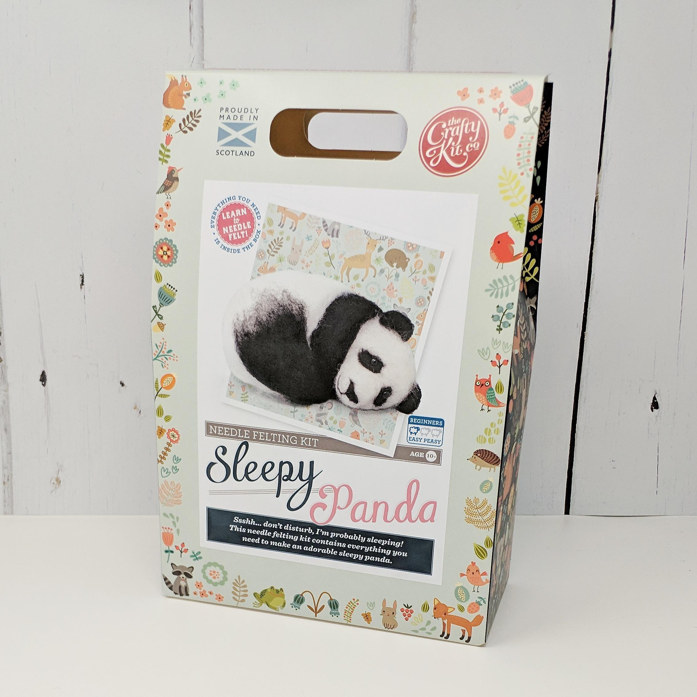 Sleepy Panda Needle Felting Kit