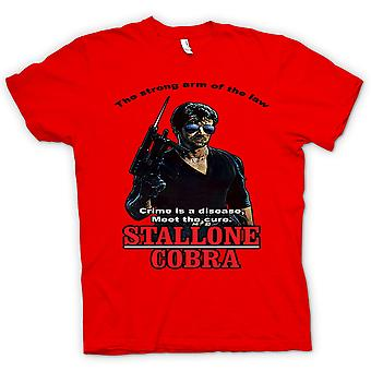 Mens T-shirt - Stallone - Cobra - Crime The Disease