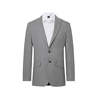Dobell Mens Light Grey 2 Piece Suit Slim Fit Peak Klapa