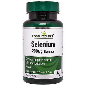 Nature ' s Aid selen 200ug (med sink og vitaminene A; C & E) tabletter 90