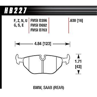 Hawk prestaties HB227U. 630 DTC-70