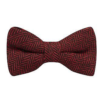 Cranberry Red & zwart Graatvormige strikje