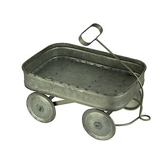 Galvanized Metal Rustic Farmhouse Wagon Plant Stand Small