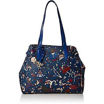 Piero drive 210474038 blauwe vrouwen tote tas (Bluette) 34x30x17 cm
