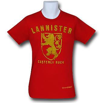 Spel van tronen Lannister rode T-shirt