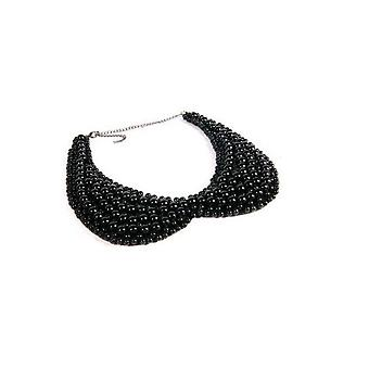 Pearl necklace/Necklace with beads (black)