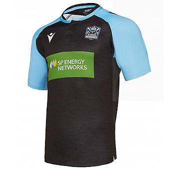 Jersey de entrenamiento de rugby de los Glasgow Warriors 2019-2020 (negro)