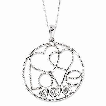 925 Sterling Zilver gepolijst Gift Boxed Spring Ring Rhodium verguld CZ Cubic Zirconia Gesimuleerde Diamond Baby maakt vijf 1