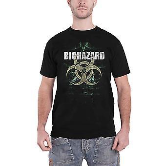 المخاطر البيولوجية تي قميص نشارك شعار فرقة سكين جديد الرسمية الرجال الأسود