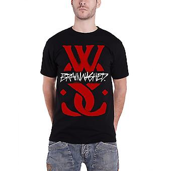 Alors qu'elle dort Mens T Shirt Black Brainwashed WSS bande Logo Officiel