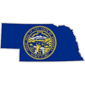 Sticker Sticker Adhesif Vinyl Car Flag Nebraska USA America