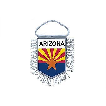 Sinalizar mini bandeira país carro decoração EUA EUA Arizona