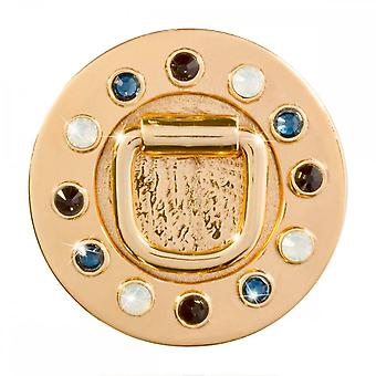 Nikki Lissoni Lucky Lock Medium Gold Plated Coin C1457GM