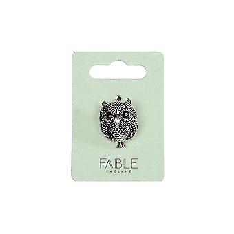 Fable Womens/damer antik ugle broche