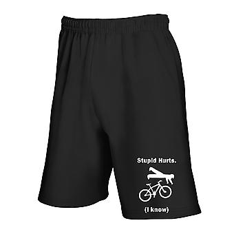 Black tracksuit shorts fun3626 stupid hurts mountain bike
