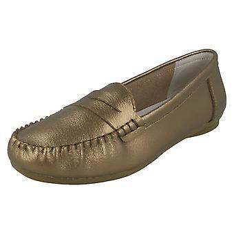 F80445 de sapatos de couro de senhoras à terra