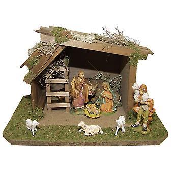 Crib wooden crib Christmas crib Christmas nativity scene Christmas decoration