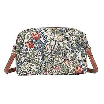 William morris - golden lily shoulder hip bag by signare tapestry / hpbg-glily