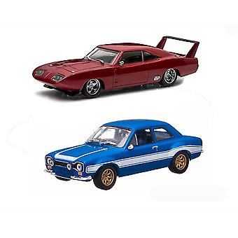 Dodge Charger and Ford Escort Model Car Set from Fast And Furious 6