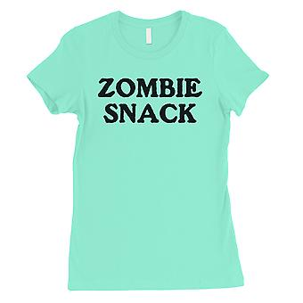 Zombie Snack Womens Mint Funny Lucky Halloween Costume T-Shirt Gift