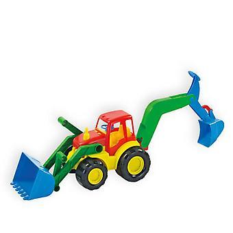 Mochtoys Spielzeug Bagger und Schaufellader 10006 in einem 45 x 16 x 16,5 cm