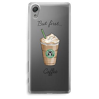 Sony Xperia XA Transparent Case - But first coffee